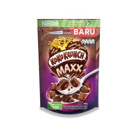 Koko Krunch Maxx Pouch Nestle [120 G] Merupakan Sereal Sarapan Sehat Yang Baik Untuk Anak Anda Dengan Tekstur Yang Renyah Dan Rasa Coklat Yang Lezat. Sereal Ini Mengandung Energy, Protein, Vitamin C, Vitamin B1, B2, B3, B5, B6, B12, Dan Calcium Sehingga D