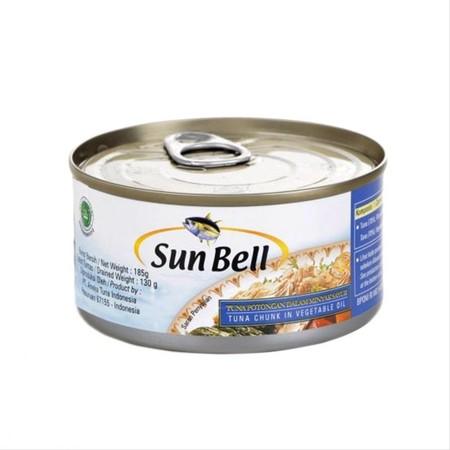 Sun Bell Tuna Chunk In Oil 185gr merupakan makanan kaleng hasil olahan laut yang terbuat dari ikan tuna pilihan dengan minyak yang menjadi rasa gurih dan nikmat yang dikemas dengan praktis, higienis dan aman untuk dikonsumsi anda dan keluarga.