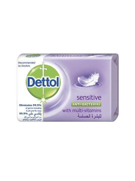 Perlindungan Setiap Hari Terhadap Kuman. Sabun Anti Bakteri Dettol Sensitive Memberikan Perlindungan Dettol. Formulanya Yang Sudah Terbukti Secara Klinis Aman Bagi Kulit.  Membantu Membersihkan Kulit Dengan Lembut Dan Menjaganya Agar Tetap Sehat Dan Teraw