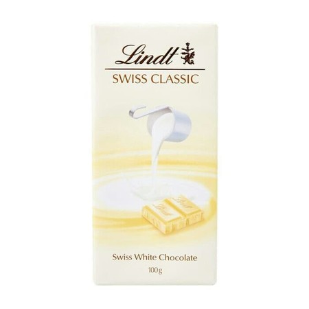 White Chocolate With White Chocolate Mousse Filling (36%) Ingredients: Sugar, Cocoa Butter, Whole Milk Powder, Vegetable Fat (Shea, Palm), Skim Milk Powder, Almonds, Emulsifier (Soya Lecithin), Flavourings, Vanilla Extract.