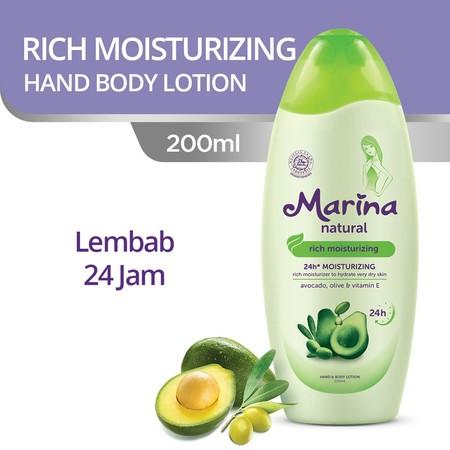 Hand & Body Lotion Dengan Kandungan Natural Complex Dari Avocado, Olive Oil Dan Vitamin E, Serta Dilengkapi Dengan 24H Moisturizing Yang Menjaga Kelembapan Alami Kulit Hingga Lapisan Terdalam Selama 24 Jam*. *Dengan Pemakaian Teratur