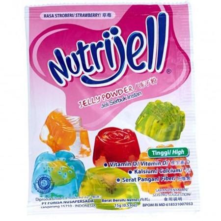 Nutrijell adalah dessert jelly instan yang bisa diolah untuk menciptakan aneka makanan dan minuman. Nutrijell cepat dan mudah dibuat dan juga mengandung serat tinggi. Produk ini terbuat dari konjac alami dan karagenan. Sangat cocok untuk dikonsumsi orang