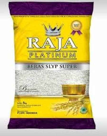 RAJA Platinum Beras 5kg merupakan beras persembahan Raja yang hadir dengan kualitas premium sehingga beras yang di hasilkan sangat bersih dan enak. Beras yang diolah dengan baik dan dikemas secara rapi membuat beras ini sangat terjaga atas kualitas dan hi