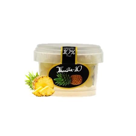 Fruite 10 Chewy Assorted Fruit Candy Pineapple 60gr merupakan permen kenyal dalam kemasan yang praktis. Rasa buah nanas yang segar memberikan sentuhan permen yang berbau wangi dan tidak lengket ketika dikonsums