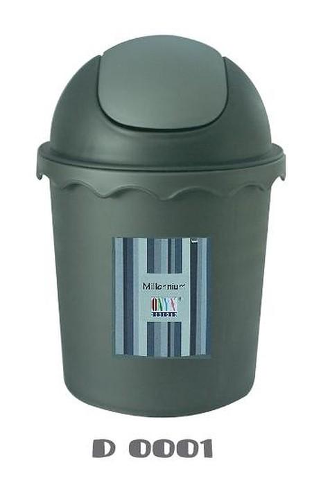 Onyx tempat sampah bundar 3.7  Liter dengan tutup