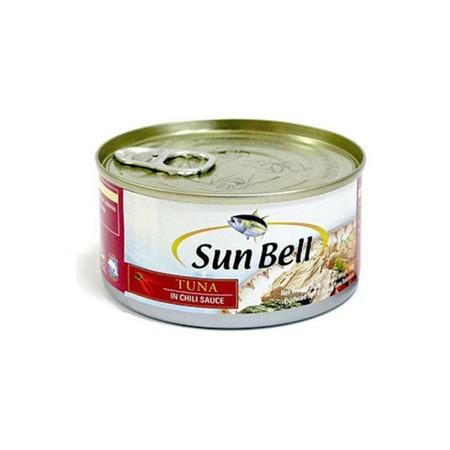 Sun Bell Tuna Flakes In Chili Sauce 185gr merupakan makanan kaleng hasil olahan laut yang terbuat dari ikan tuna pilihan dengan saus sambal yang gurih dan nikmat yang dikemas dengan praktis, higienis dan aman untuk dikonsumsi anda dan keluarga.