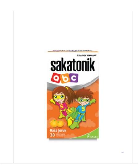 Sakatonik ABC Orange Suplemen Makanan [30's] adalah supplemen makanan dari Sakafarma yang kaya akan zat besi, vitamin, dan mineral lainnya bagi si kecil. Sakatonik ABC membantu buah hati Anda selama masa pertumbuhan dan menjaga keseimbangan serta daya tah