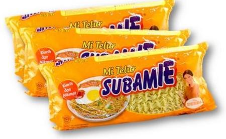 Subamie 180 gr merupakan mie kering dengan komposisi yang berbeda dengan mie kering lainnya yang beredar di pasaran. Subamie terbuat dari tepung terigu, tepung tapioka dan pati jagung. Yang membuat subamie berbeda adalah adanya campuran pati jagung didala