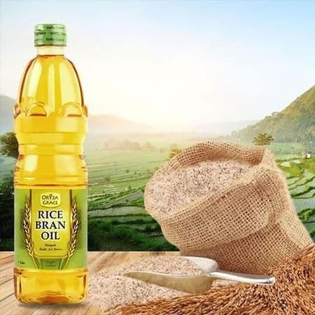 Oryza Grace Rice Bran Oil adalah minyak goreng alami yang terbuat dari extrak bekatul padi, yang mengandung banyak nutrisi seperti: * Omega 3 Fatty Acids, Omega 6 Fatty Acids dan Oleic Acid. * Vitamin E complex (Gamma Oryzanol, Tocopherol & Tocotrienol),