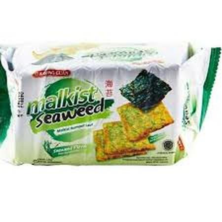Khong Guan Malkist Seaweed 180Gr Khong Guan Malkist Seaweed 180GrMerupakan Biskuit Malkist Dengan Rasa Rumput Laut Yang Renyah Dan Lezat. Crackers Ini Mengandung Nutrisi, Karbohidrat, Dan Kalsium Yang Baik, Sehingga Sangat Aman Dikonsumsi Anda Semua Se