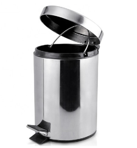 Stainless steel dustbin with mirror design. Size: 20Liter. Material: stainless steel mirror finish. Color: Chrome Suitable to complete the design of a modern room.