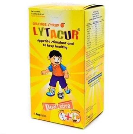 LYTACUR SYR 60ML mengandung multivitamin yang didistribusikan oleh Dexa Medica. Lytacur dapat digunakan sebagai sumber vitamin dan asamamino tambahan untuk anak, menjaga kesehatan, dan menambah nafsu makan