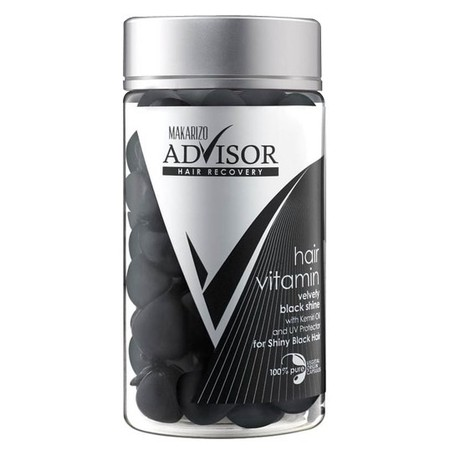 The Latest Innovation From Makarizo Advisor Hair Recovery  The First Hair Vitamin With 100% Pure Vegetal Origin Capsules Containing Vitamin A, C, E, Pro Vitamin B5 And Silk Protein To Fortify, Revitalize, And Nourish Hair. Added To Velvety Black Shine Ca