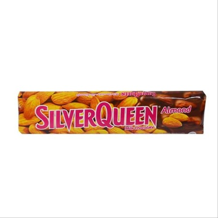 Coklat SilverQueen almond merupakan coklat yang terbuat dari perpaduan bahan coklat, susu, dan kacang almond dengan perpaduan rasa yang sangat lezat sehingga cocok dinikmati saat santai bersama teman dan keluarga.