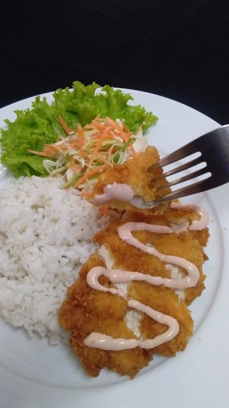 chiken katsu dan nasi
