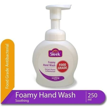 Sleek Hand Wash is Hand wash soap that effectively clean and remove unpleasant odor. Anti-bacterial formula protects hands hygienic and Vitamin E to make hands soft and smooth.