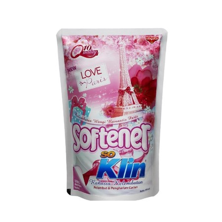 """SoKlin Softener softens clothes making it comfortable to wear and delicate to skin, makes clothes smell good, and prevent musty odor caused by germs, makes clothes easier to iron and wrinkle free. It contains """"Perfume Booster"""" technology: Magical perfume"""