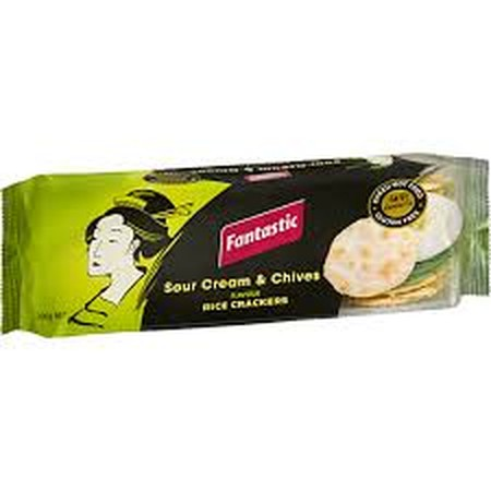 Fantastic Crackers Are An Irresistible Snack Which Can Be Enjoyed Anytime, Anywhere. Delicious On Their Own, Or With A Tasty Dip Or Topping, You Know You Can Rely On Fantastic To Satisfy Any Snacking Moment. Sour Cream & Chives Flavoured Rice Crackers Are