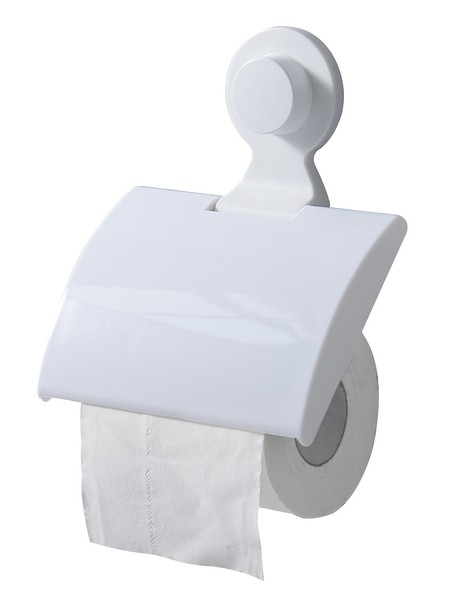 Bathroom accessories,  Tissue roller dispenser with HQ ABS + PP material and elegant design. Loads up to 4KG (total) High adhesion. Size 15 * 20 * 3cm