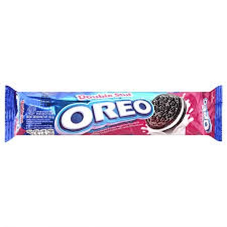 Double Stuff Oreos Ingredients: Sugar, Wheat Flour, Non-Hydrogenated, Vegetable Oil, Cocoa Powder, Fructose Syrup, Corn Strach, Salt, Leavening Agent, Emulsifier, Nature Identical Vanilla Flavour