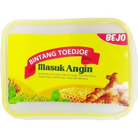 Bintang Toedjoe Masuk Angin merupakan obat herbal berbentuk liquid, membantu meredakan masuk angin, perut kembung, pegal2, sakit kepala, mual dan meriang. Terbuat dari bahan-bahan alami seperti Jahe merah, foeniculi fructus (adas), menthae arvensis folium
