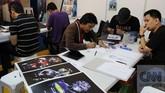 Popcon Asia 2014, festival industri kreatif terbesar di Asia menampilkan berbagai produk komik, film, mainan, dan animasi yang berlangsung 19-21 September 2014.