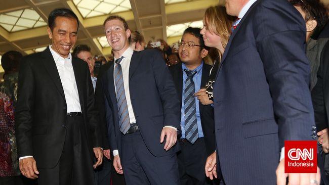 Zuckerberg ke Indonesia, Saham Facebook Naik