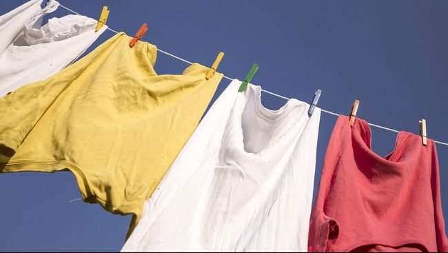 Ilustrasi jemuran pakaian