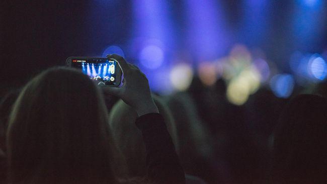 Ilustrasi merekam konser