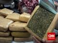 Polisi Bongkar Paket Ganja 75 Kg dalam Dodol