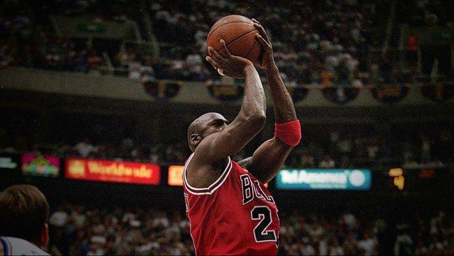 Cover Infografis Riwayat Slam Dunk Michael Jordan