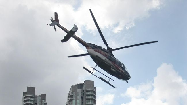 Layanan taksi helikopter sudah disediakan di Bandara Internasional Soekarno-Hatta sejak 2019.