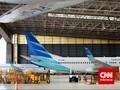 Sebanyak 70 Persen Pesawat Garuda Dikandangkan