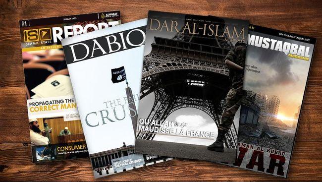 ISIS meluncurkan majalah Dabiq yang telah mencapai edisi ke-tujuh. Tujuannya bukan hanya untuk propaganda, tapi untuk merekruit warga asing.