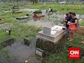 Pompa Banjir DKI Jakarta Masih Dipenuhi Sampah
