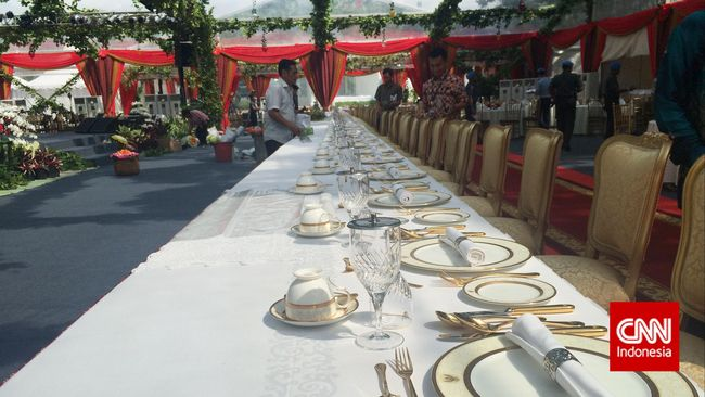 Untuk Gala Dinner yang digelar di Istana Kepresidenan malam ini, kuliner tradisional seperti sate maranggi , soto ayaman hingga asinan betawi akan disuguhkan.