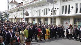 Jokowi, Xi Jinping, Mswati, Menandatangani Bandung Message