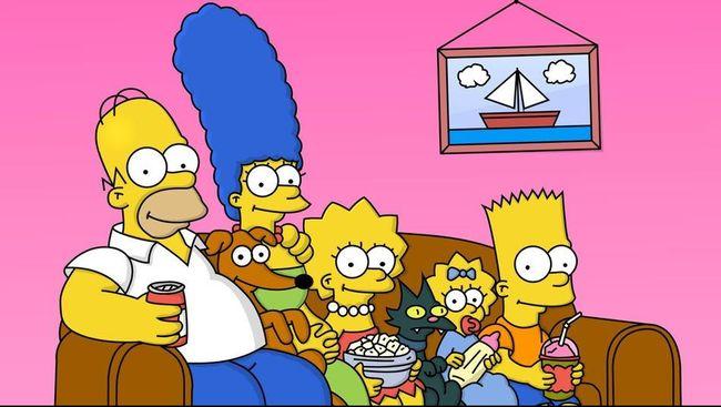 Di salah satu episode terbaru 'The Simpsons', terlihat tulisan yang terbuat dari lampu warna-warni mengatakan,