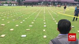 'Pameran' 2,1 Ton Ganja Jaringan Aceh di Bareskrim Polri