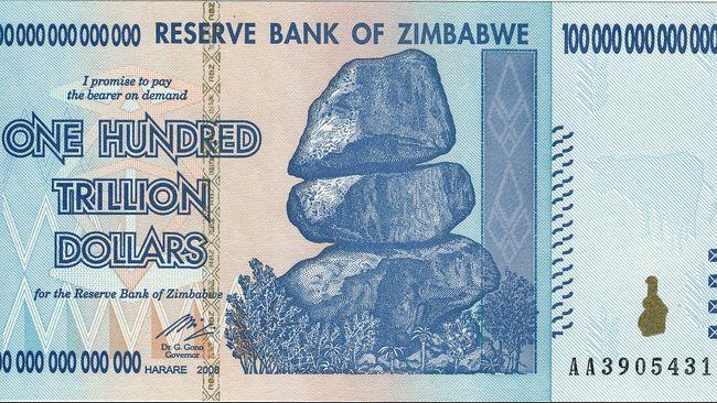 Us 1 Setara 35 Ribu Triliun Zimbabwe Hapus Mata Uangnya