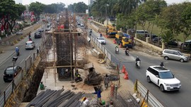 Proyek Jalan Layang di Lenteng Agung, Arus Lalin Dialihkan