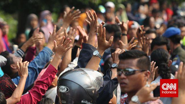 Polri Tepis Tolak Laporan Kerumunan Jokowi: Nihil