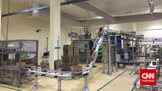 Pabrik baru PT Unilever Indonesia yang memproduksi bumbu masak Royco dan kecap Bango di Cikarang, Selasa (25/8). (CNN Indonesia/Galih Gumelar)