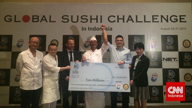 Nama Basuki pun disebut sebagai pemenang dan terpilih sebagai perwakilan Indonesia untuk berlaga melawan koki dari 13 negara lain di Global Sushi Challenge.