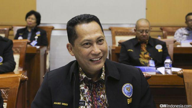 Kepala BNN Komjen Budi Waseso, saat melakukan rapat dengar pendapat dengan Komisi III, di Komplek Parlemen Senayan, Jakarta, Selasa, 15 Sepetember 2015. CNN Indonesia/Adhi Wicaksono.