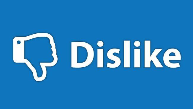Ilustrasi Tombol Dislike Facebook