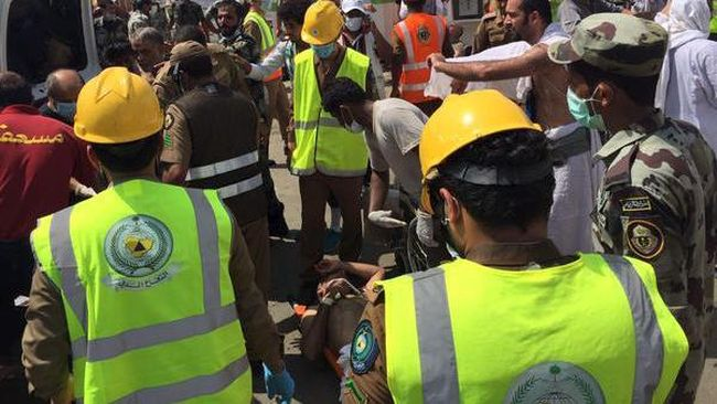 Para Korban Insiden Mina Dikirim ke Empat Rumah Sakit