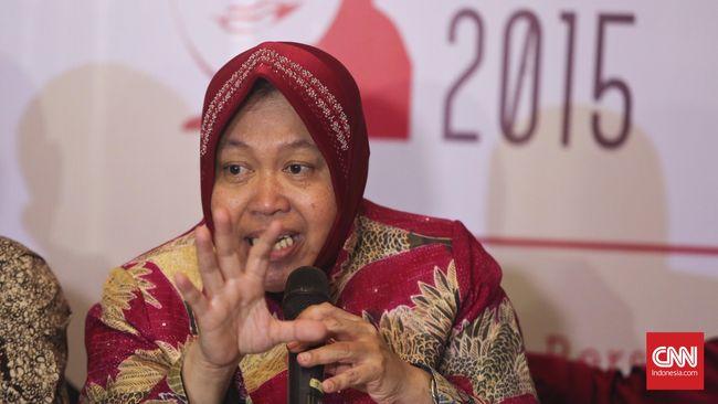 Walikota Surabaya Tri Rismaharini. CNN Indonesia/Adhi Wicaksono.