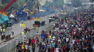 Jakarta Gelar CFN Malam Tahun Baru, Beberapa Jalan Ditutup