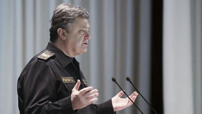Presiden Ukraina Petro Poroshenko menyatakan kemungkinan mereka akan terlibat perang terbuka Rusia, buntut insiden di Selat Kirch, Semenanjung Krimea.